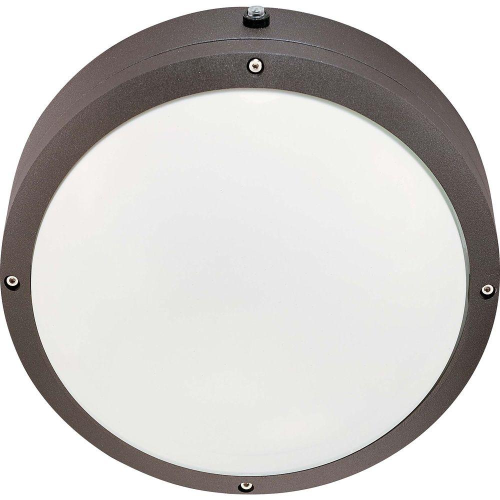 Hudson Architectural Bronze 2-Light 13 watt 10 Inch Round Wall / Ceiling Fixture