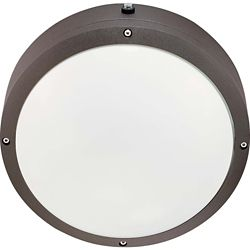 Glomar Hudson Architectural Bronze 2-Light 13 watt 10 Inch Round Wall / Ceiling Fixture