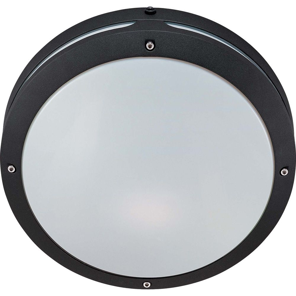 Hudson Matte Black 2-Light 18 watt13 Inch Round Wall / Ceiling Fixture