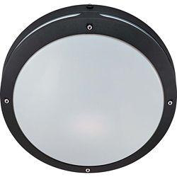 Glomar Hudson Matte Black 2-Light 18 watt13 Inch Round Wall / Ceiling Fixture