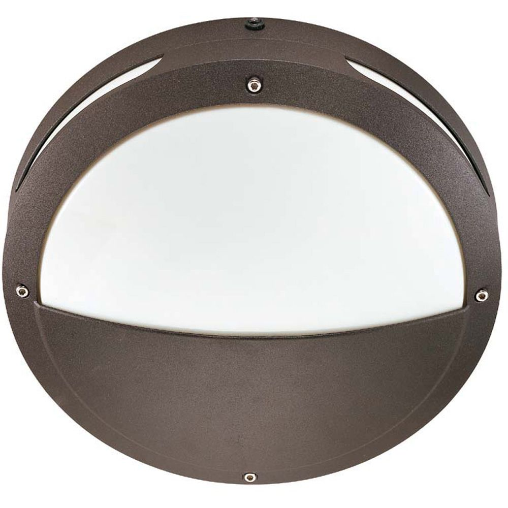Lumière Glomar fixée au mur à deux ampoules avec abat-jour blanc, Fini bronze