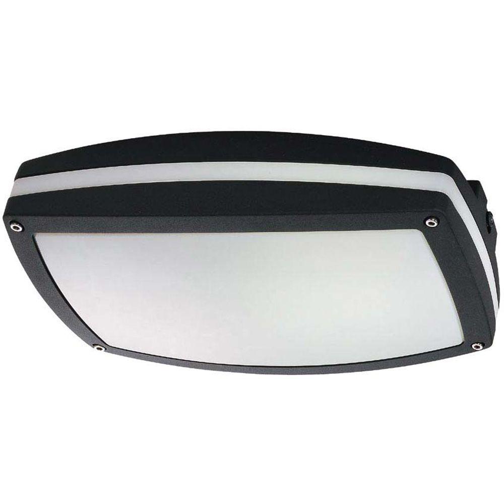 Hudson Matte Black 2-Light 13 watt Rectangular Wall / Ceiling Fixture
