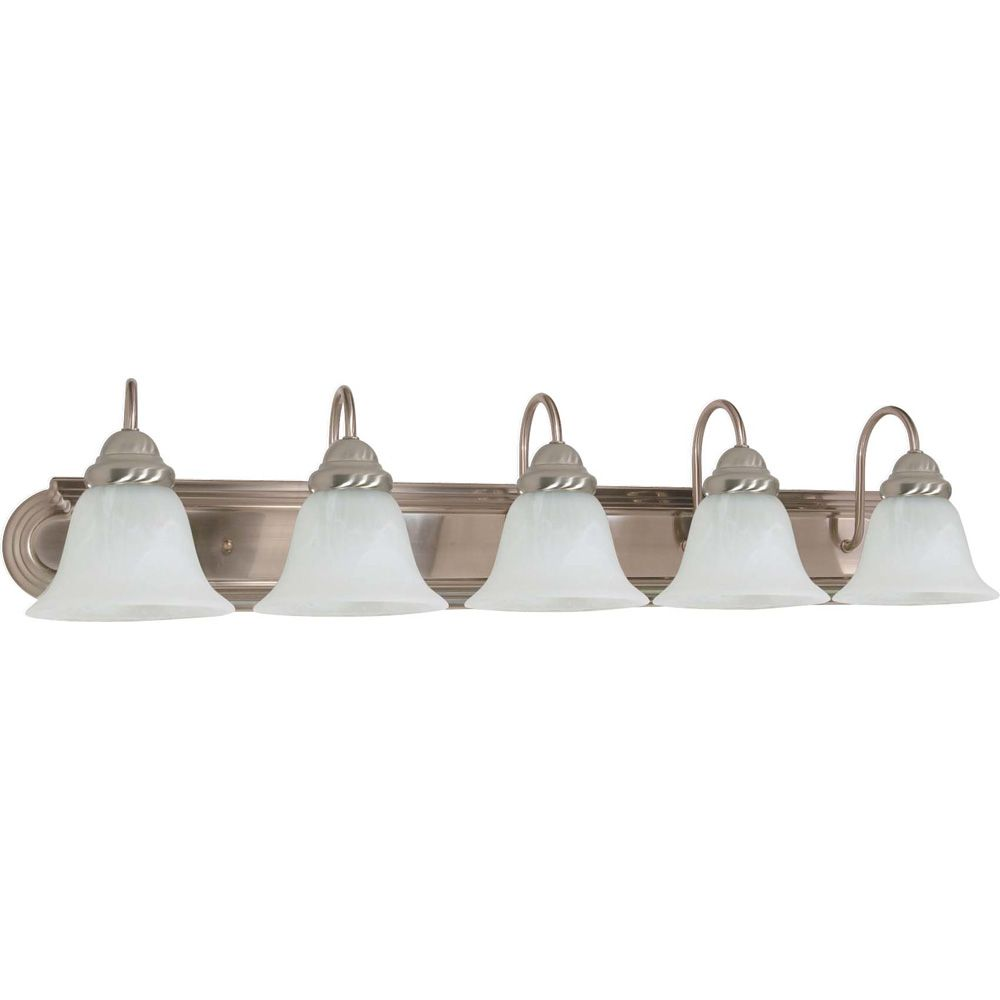 Lumière fixée au mur à cinq ampoules avec abat-jour de spécialité, finition de spécialité