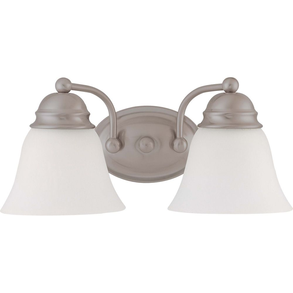 Empire 2-Light Brushed Nickel Vanity Light Fixture