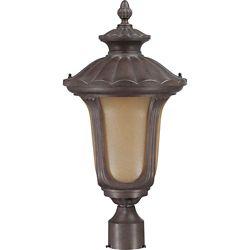 Glomar Pilier monture lumière Glomar à une ampoule avec abat-jour de spécialité, finition de spécialité