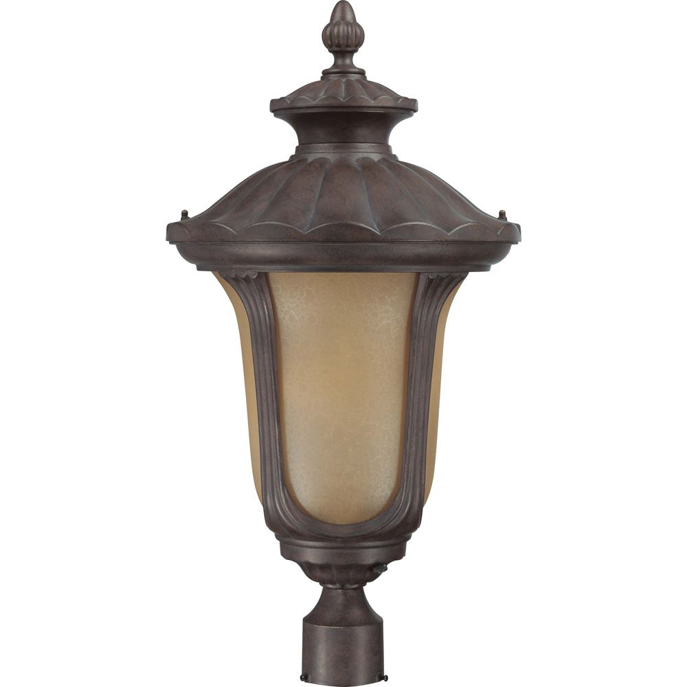 Beaumont Fruitwood 1-Light Large  Post Lantern 23 watt GU24 Lamp Included