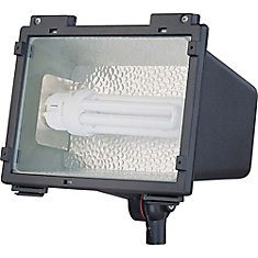 Compact Fluorescent Landscape Flood Light  42 watt PLT  GX24 Base Finished in Architectural Bronze