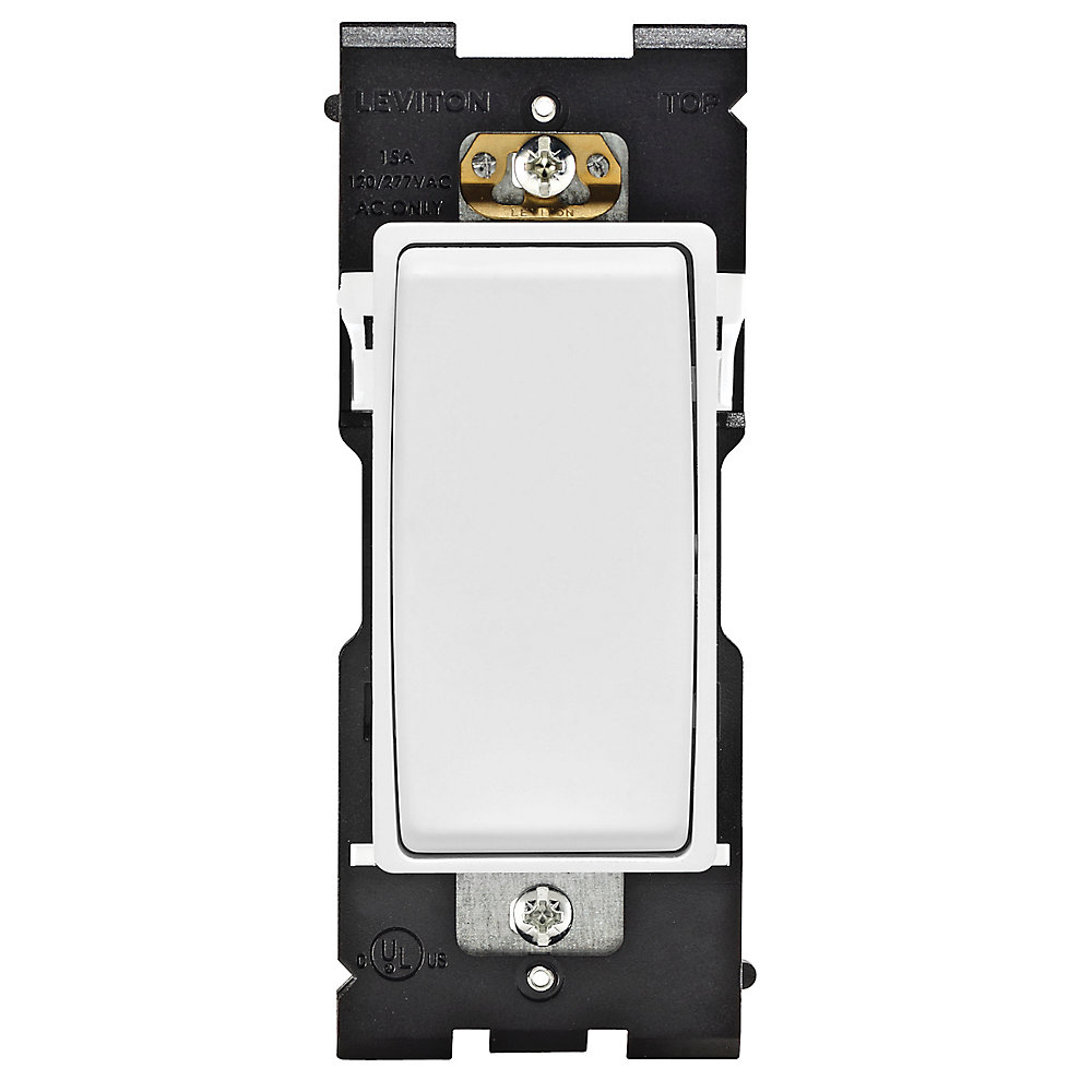 15A Single Pole Switch (Wallplate not Included) in White