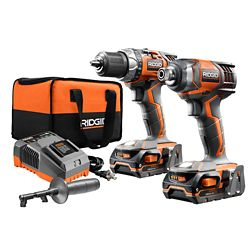 RIDGID X4 18V Lithium-Ion Cordless Drill and Impact Driver Combo Kit (2-Tool) with (2) 1.5Ah Batteries, Charger