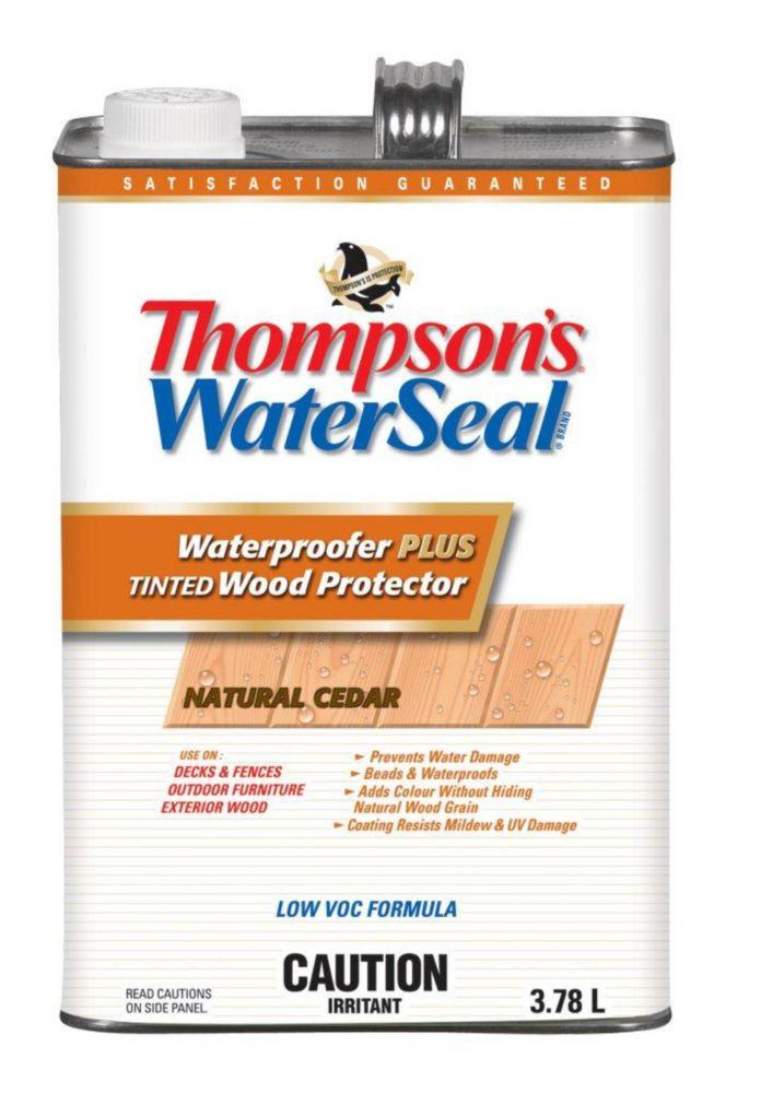 Imperméabilisant PLUS protecteur pour bois teinté Thompsons WaterSeal Faible en COV - Cèdre natur...