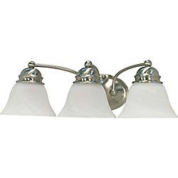 Glomar Lumière fixée au mur à trois ampoules avec abat-jour de spécialité, finition de spécialité