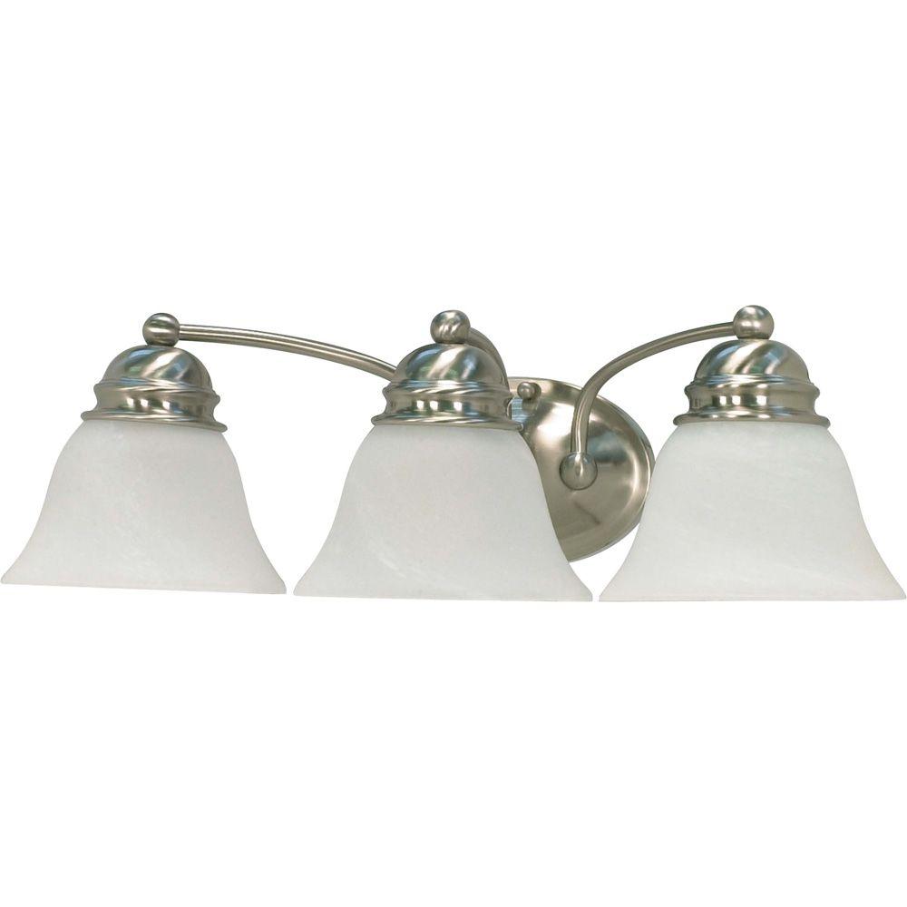 Lumière fixée au mur à trois ampoules avec abat-jour de spécialité, finition de spécialité
