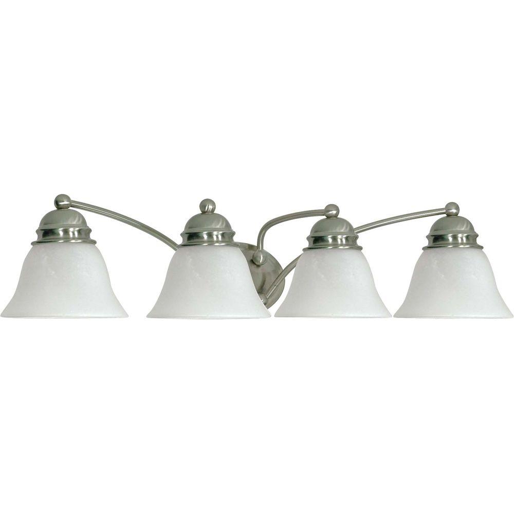 Lumière fixée au mur à quatre ampoules avec abat-jour de spécialité, finition de spécialité