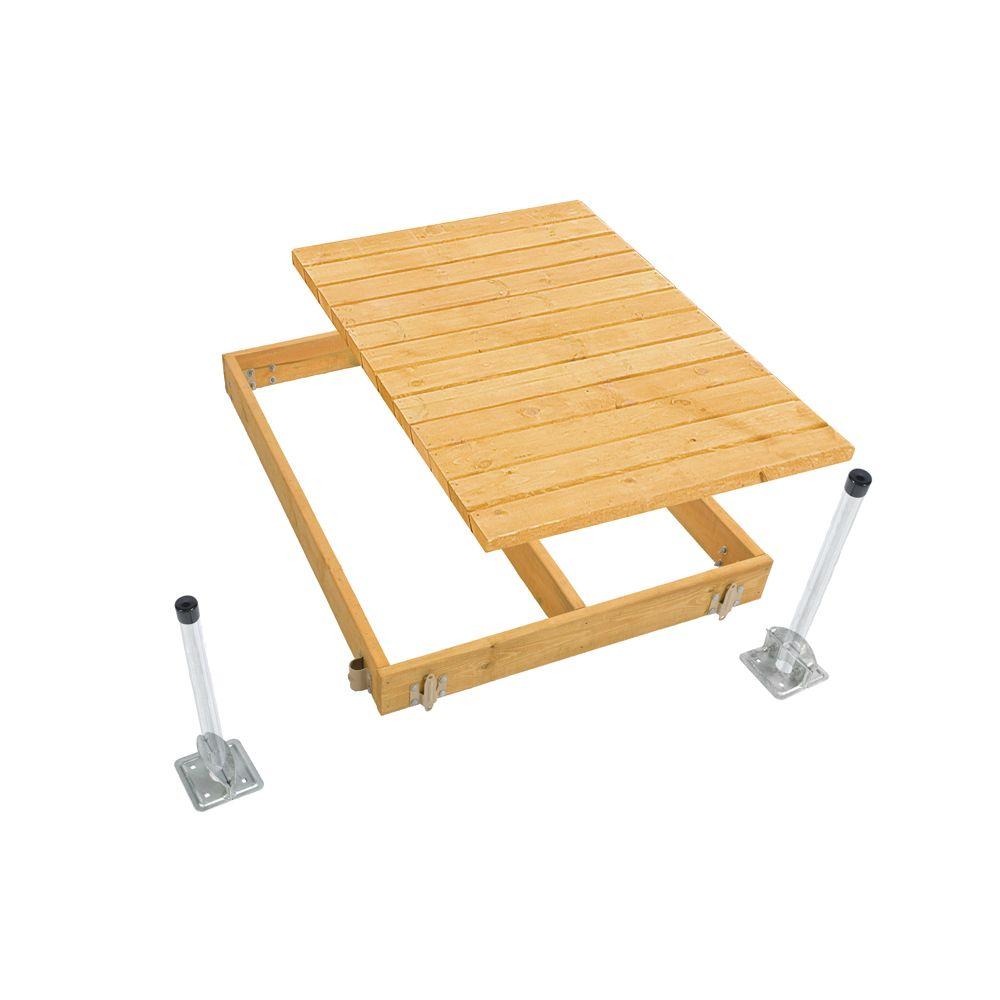 4 ft. x 6 ft. Standard Stationary Dock Kit