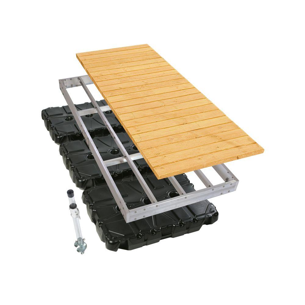 4 ft. x 10 ft. Aluminum Floating Dock Kit