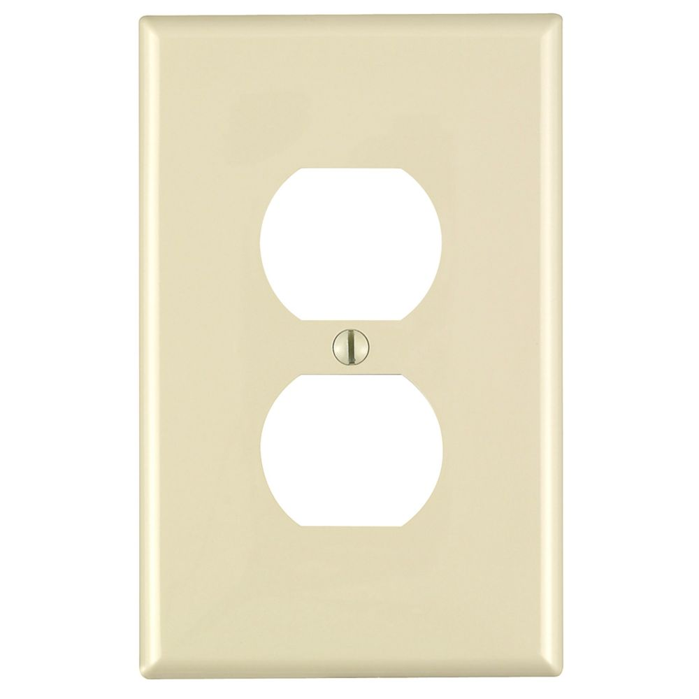 1-Gang Midway Nylon Duplex Receptacle Wallplate, in Ivory
