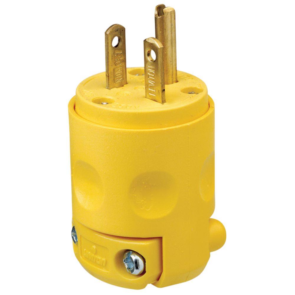 Fiche en PVC 20A-250V, en jaune