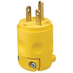Leviton - Decora PVC Plug 20A-250V, in Yellow