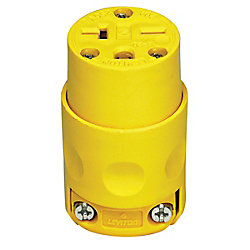 Leviton PVC Connector 20A-250V, in Yellow