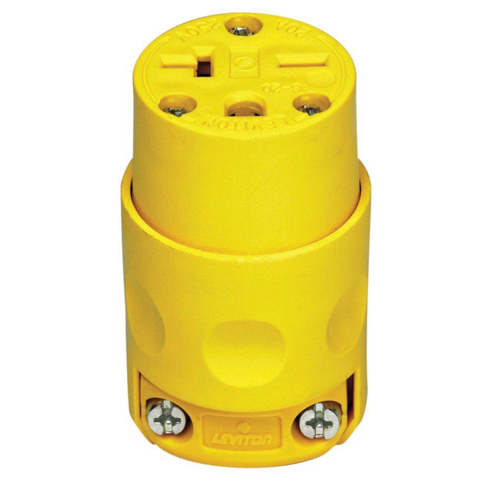 Leviton - Decora PVC Connector 20A-250V, in Yellow