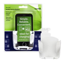 Leviton Decora Mobile Device Cradle, in White
