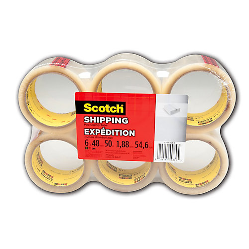 3710 48mm x 50m Shipping Tape (6-Pack)