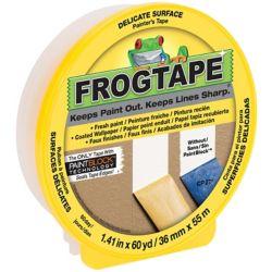 FrogTape Ruban de peintrepour surfaces délicates de marque Jaune, 3,6cm x 55m (1,41po x 60v)
