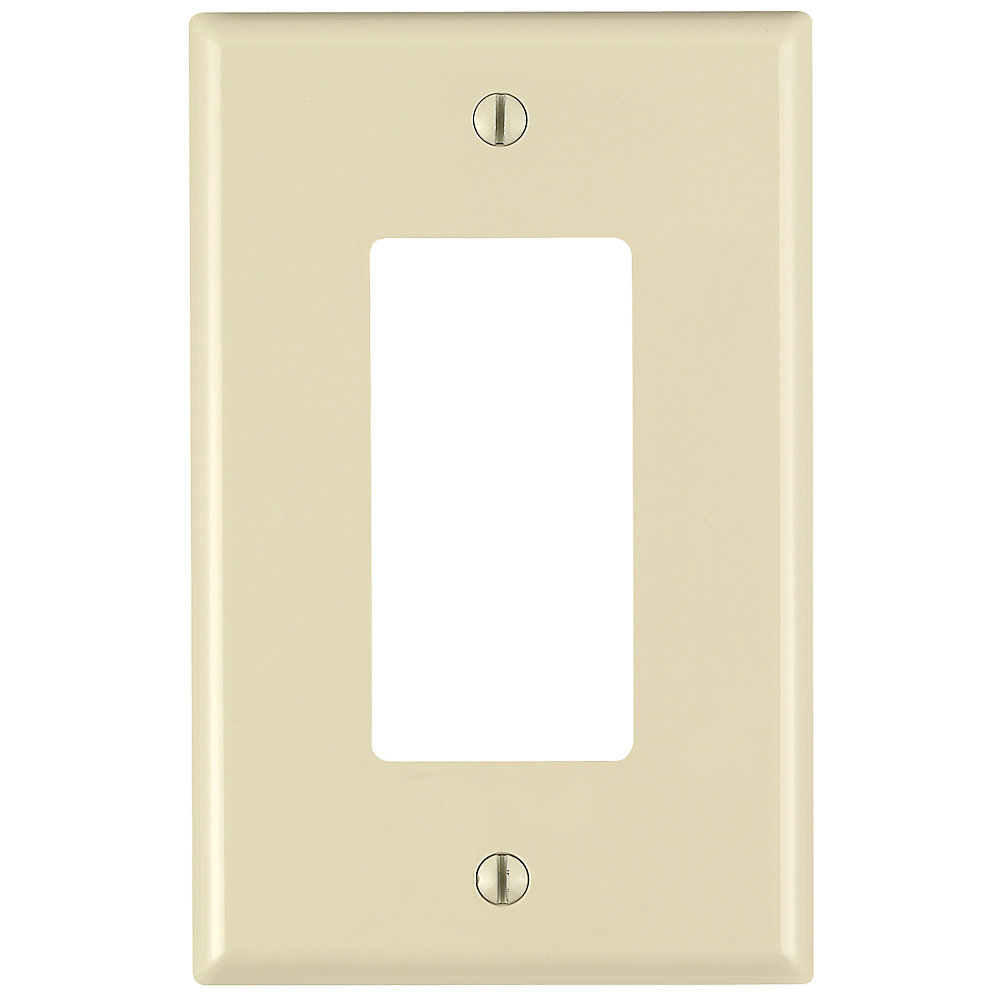 Decora 1-Gang Midway Nylon wall plate, in Ivory