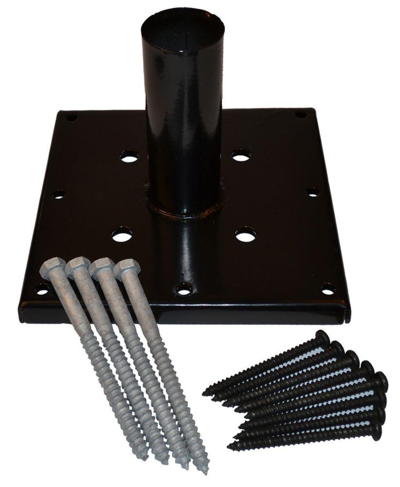 Black Post Anchor Kit Galvanized (6 Inch x 6 Inch)