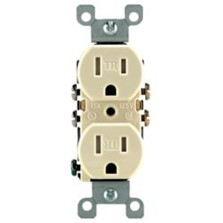 Leviton - Decora Tamper Resistant Duplex Receptacle 15A, in Ivory