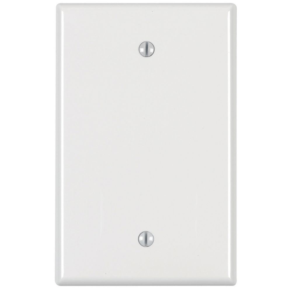 1-Gang Midway Nylon Blank Wallplate, in White