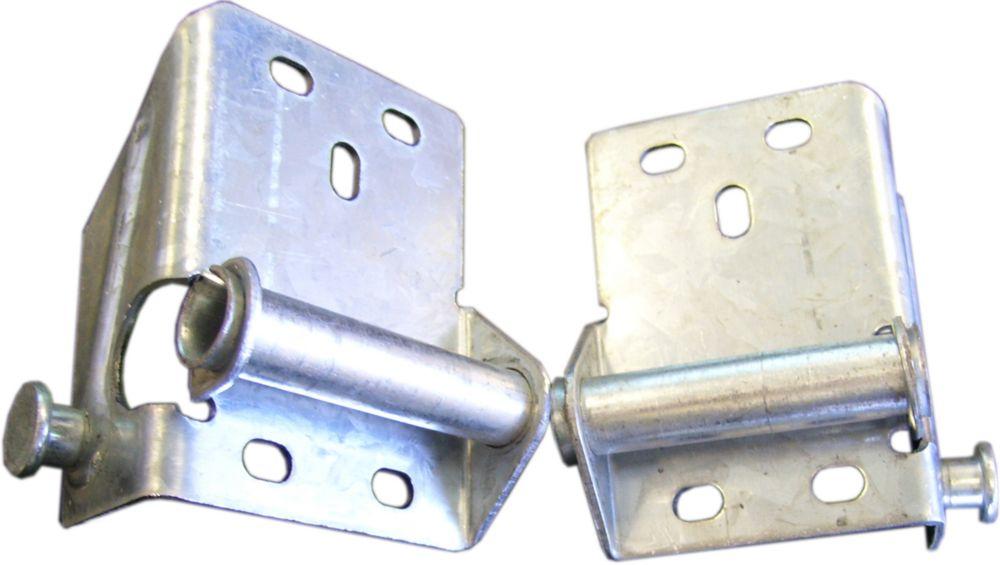 Ideal Security Galvanized Steel Right and Left Bottom Brackets for Garage Door