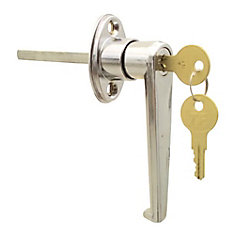 Keyed L Garage Door Lock in Chrome