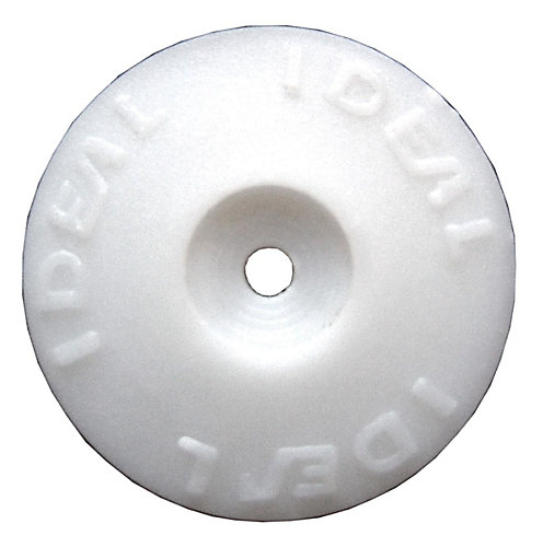 Ideal Security White Plastic Cap Washers (500 Pack) | The Home Depot ...