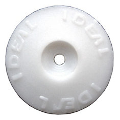 White  Plastic Cap Washers (500 Pack)