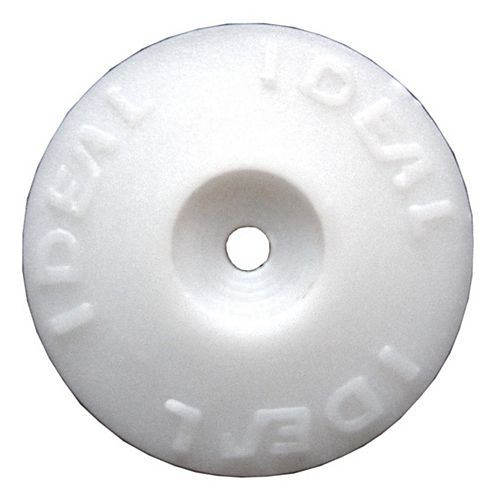 Ideal Security White Plastic Cap Washers (500-Pack)