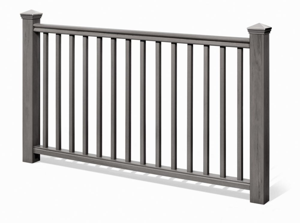 Eon 6 Ft. - 42 In. Traditional Handrail Kit Grey - Railing
