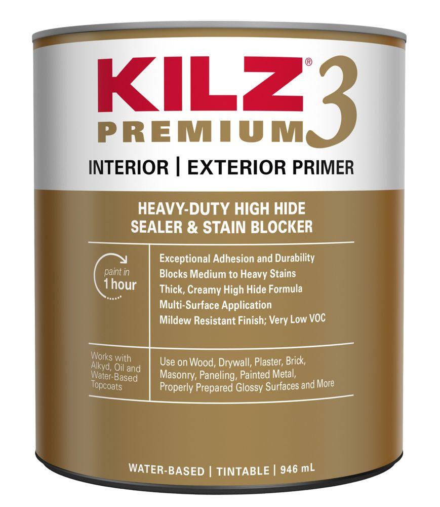 KILZ Premium Interior/Exterior Primer, Sealer & Stainblocker, 931 mL