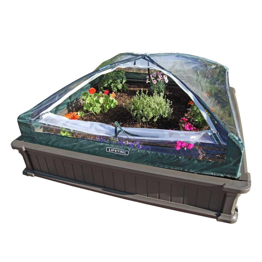 Two Raised Garden Beds with One Tent Enclosure,  4 Feet x 4 Feet