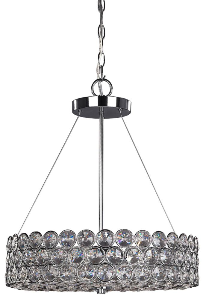 Alice 3-Light Chrome Chandelier with Crystal