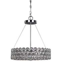 Canarm Ltd. Alice 17-inch x 20.5-inch 3-Light Chandelier in Chrome with Crystal