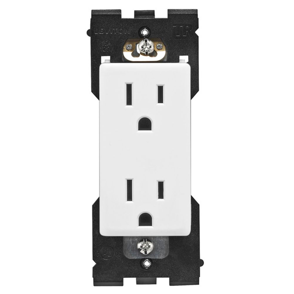Leviton Renu Tamper Resistant Receptacle RER15-WW, 15A-125V, in White on White RER15-742 Canada Discount