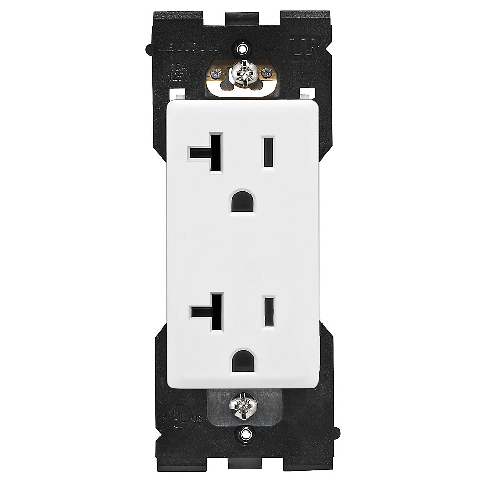 20A Tamper Resistant Outlet (Wallplate not Included) in White