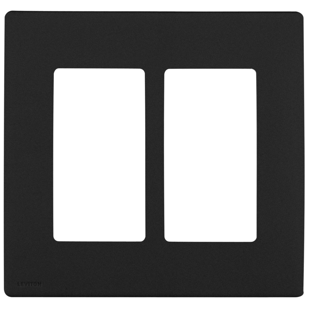Leviton Renu 2-Gang Screwless Snap-On Wallplate REWP2-OB, in Onyx Black REWP2-729 Canada Discount