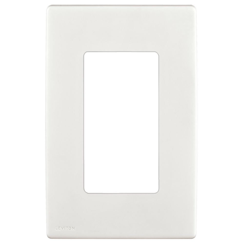 Leviton Renu 1-Gang Screwless Snap-On Wallplate REWP1-WW, in White on White REWP1-722 in Canada