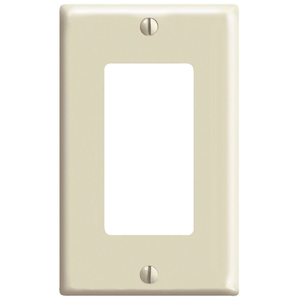 Leviton decora decora 1 gang wallplate in light almond for Decora home