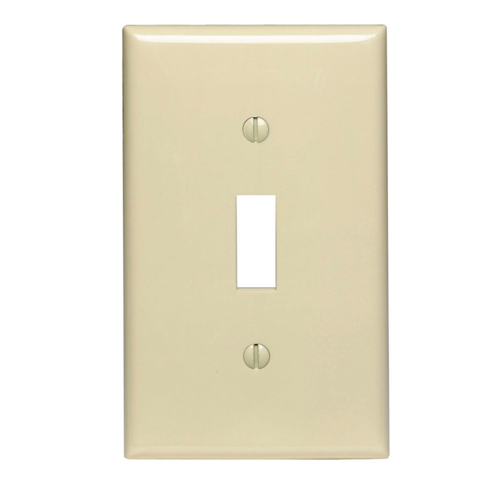 1-Gang Midway Nylon Toggle Switch Wallplate, in Ivory