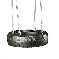 Tire Swing with Rope