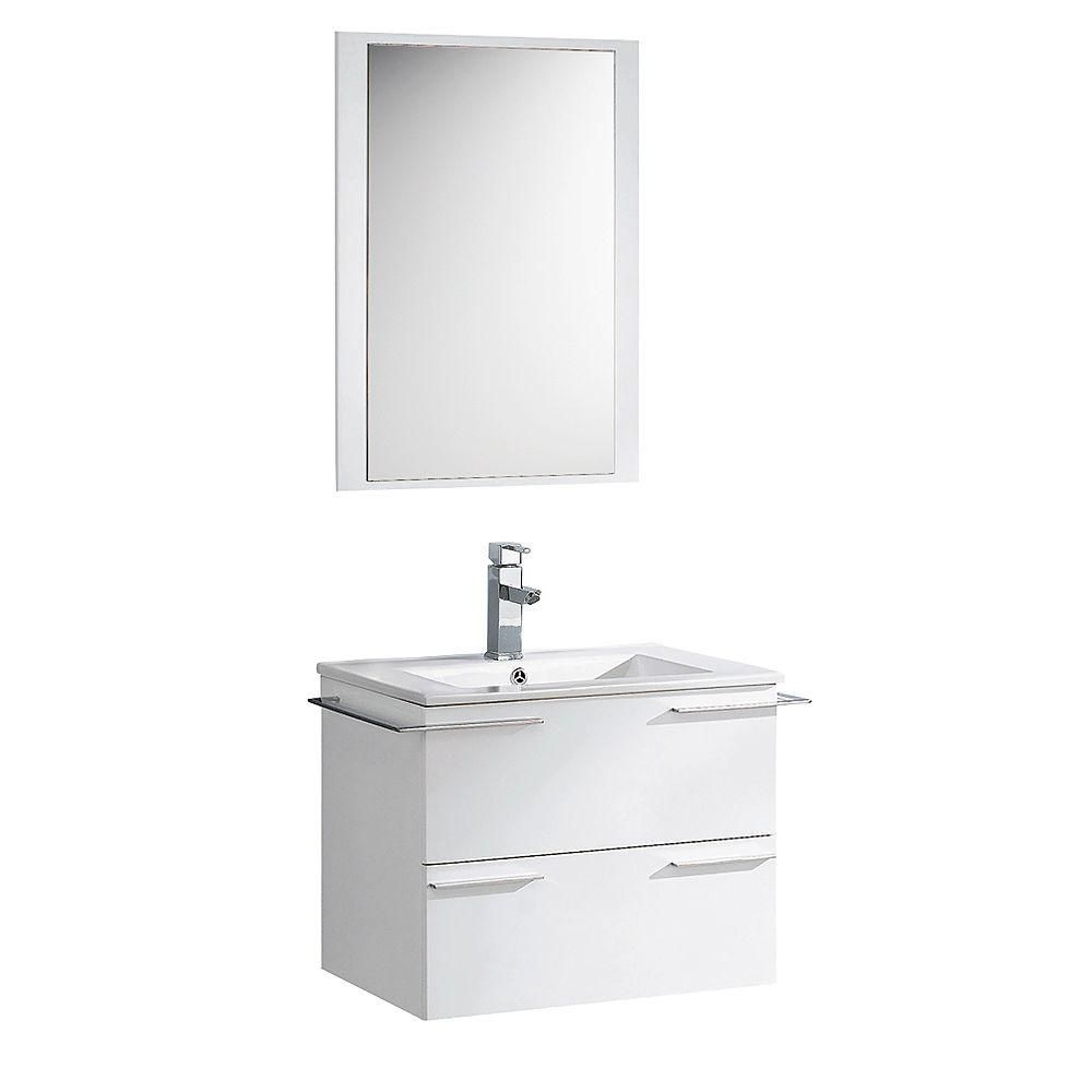 fresca cielo 24 inch w vanity in white finish with mirror the home