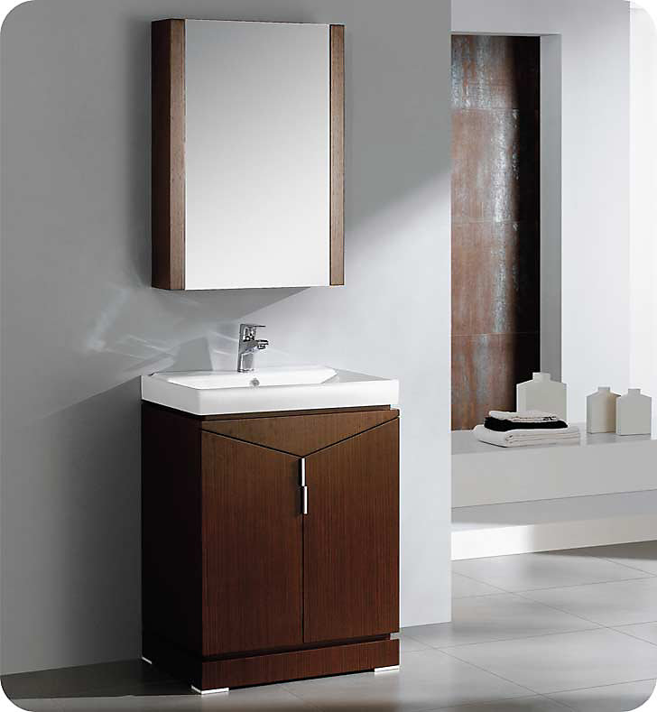 Elissos 24-inch W Freestanding Vanity in Brown